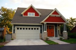 modern recessed panel garage door