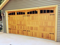 faux wood insulated carriage house door