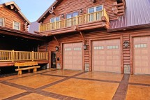 wood tone garage door