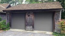 smooth wood garage doors