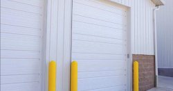 ribbed steel uninsulated commercial garage door