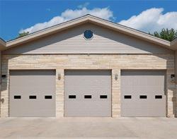Heavy insulated commercial garage door
