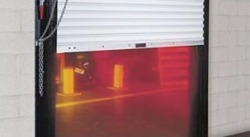 rolling fire rated door